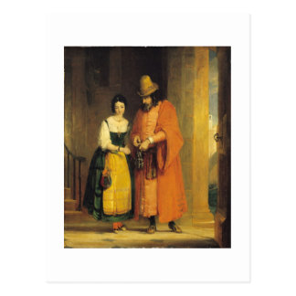Shylock and Jessica from 'The Merchant of Venice', Postcard