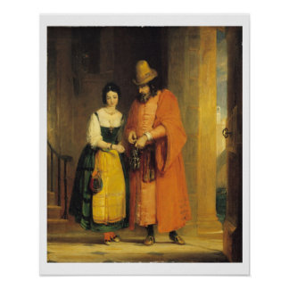 Shylock and Jessica from 'The Merchant of Venice', Poster