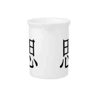 sī - 思 (consider) drink pitcher