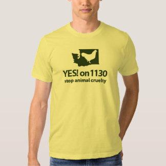 ¡SÍ! 1130 camiseta voluntaria Poleras