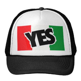 Sí a los italianos gorro