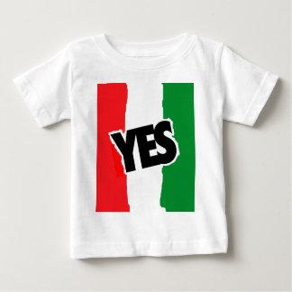 Sí a los italianos playera de bebé