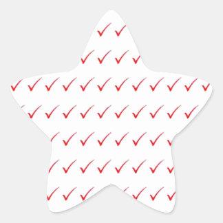 SÍ, aceptación positiva del éxito: el cadeau Pegatina En Forma De Estrella