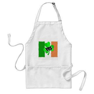 Sí al irlandés delantal