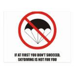 Si al principio usted no tenga éxito, abandone el  postales