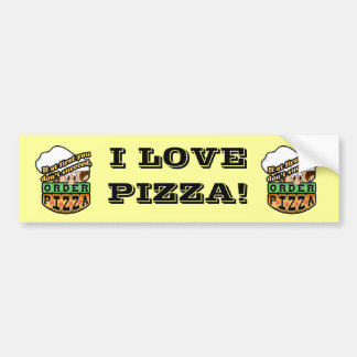 Si al principio usted no tenga éxito la pizza de l pegatina de parachoque