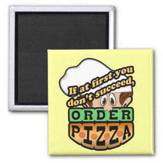 Si al principio usted no tenga éxito la pizza de l imán cuadrado