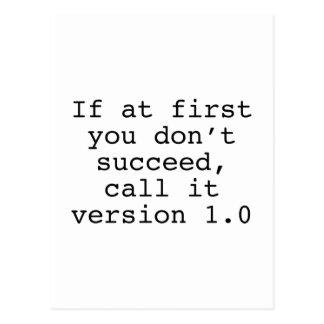 Si al principio usted no tenga éxito, llámelo la postales