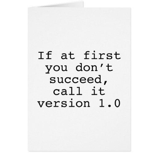 Si al principio usted no tenga éxito, llámelo la v tarjetón