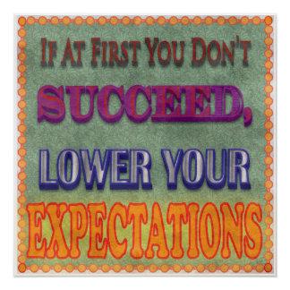 Si al principio usted no tenga éxito… perfect poster