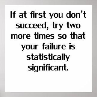 Si al principio usted no tenga éxito póster