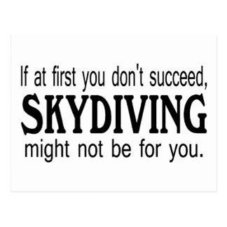Si al principio usted no tenga éxito Skydiving no Tarjeta Postal