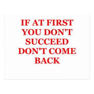 si al principio usted no tenga éxito postal
