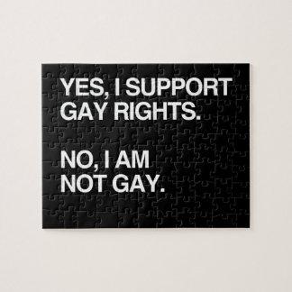 SÍ APOYO LOS DERECHOS DE LOS HOMOSEXUALES ROMPECABEZAS