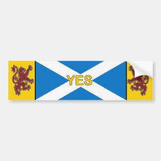 Sí bandera de Escocia y pegatina para el parachoqu Etiqueta De Parachoque