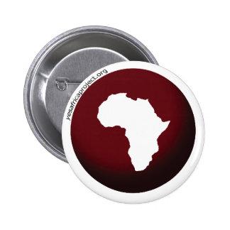 ¡Sí! Botón de África con el logotipo Pin Redondo De 2 Pulgadas