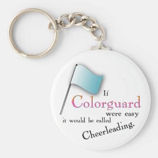 """""""Si Colorguard era fácil… """" Llavero Redondo Tipo Pin"""