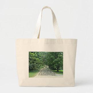 Si dios caminara con nosotros y hablara con nosotr bolsa tela grande