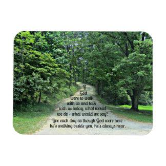 Si dios caminara con nosotros y hablara con nosotr imanes de vinilo