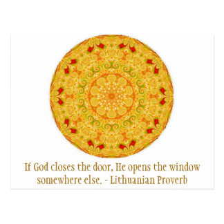 Si dios cierra la puerta, él abre la ventana tarjetas postales