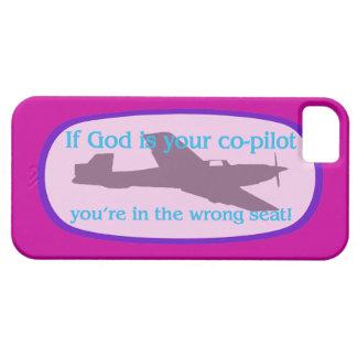 ¡Si dios es su copiloto. .you están en el iPhone 5 Carcasas