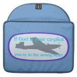 ¡Si dios es su copiloto. .you están en el Funda Para Macbook Pro