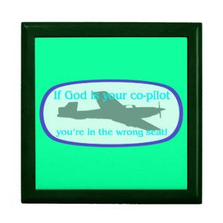 ¡Si dios es su copiloto. .you están en el incorrec Cajas De Joyas