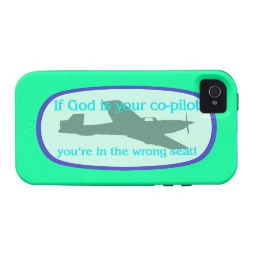 ¡Si dios es su copiloto. .you están en el incorrec Vibe iPhone 4 Funda