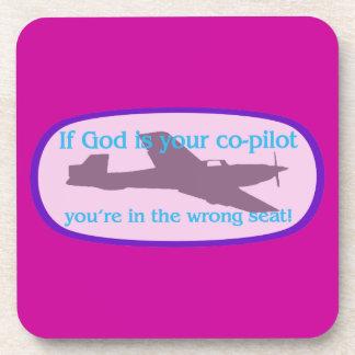 ¡Si dios es su copiloto. .you están en el incorrec Posavaso