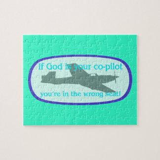 ¡Si dios es su copiloto. .you están en el incorrec Puzzle