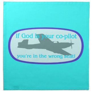 ¡Si dios es su copiloto. .you están en el incorrec Servilleta