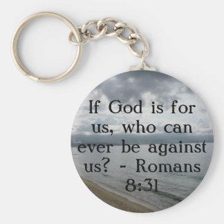 ¿Si dios está para nosotros, que pueden nunca esta Llavero Redondo Tipo Pin