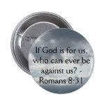 ¿Si dios está para nosotros, que pueden nunca esta Pins
