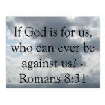 ¿Si dios está para nosotros, que pueden nunca Postal