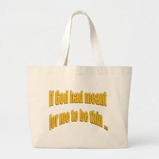 Si dios había significado para que sea fino bolsa de mano