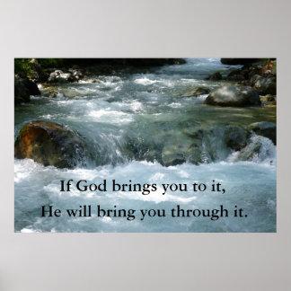 Si dios le trae él cita con el río póster