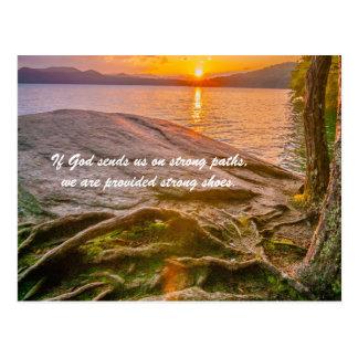 Si dios nos envía en las trayectorias fuertes, tarjetas postales