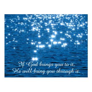 Si dios trae usted a él cristiano cita postales