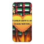 Si el amor de mi país es un pecado iPhone 5 funda