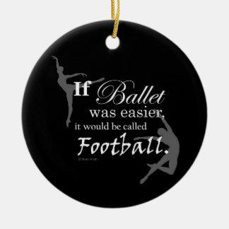 Si el ballet era ornamento (el personalizable) adorno navideño redondo de cerámica