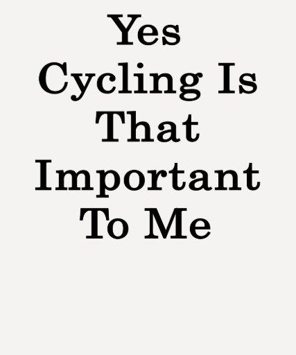 Sí el ciclo es ése importante para mí camisetas
