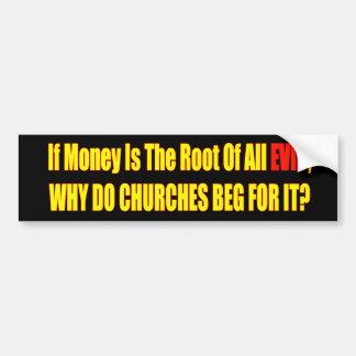 Si el dinero es pegatina para el parachoques malva pegatina para auto