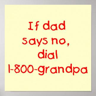 Si el papá dice no el rojo impresiones