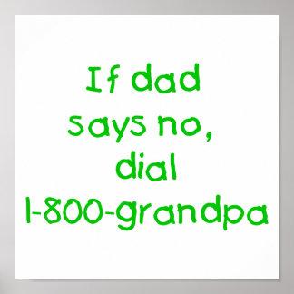 Si el papá dice no el verde impresiones