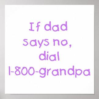 Si el papá dice no la púrpura impresiones