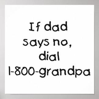 Si el papá dice no posters