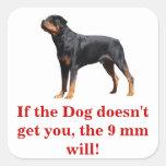 Si el perro no le consigue la voluntad del arma pegatina cuadrada