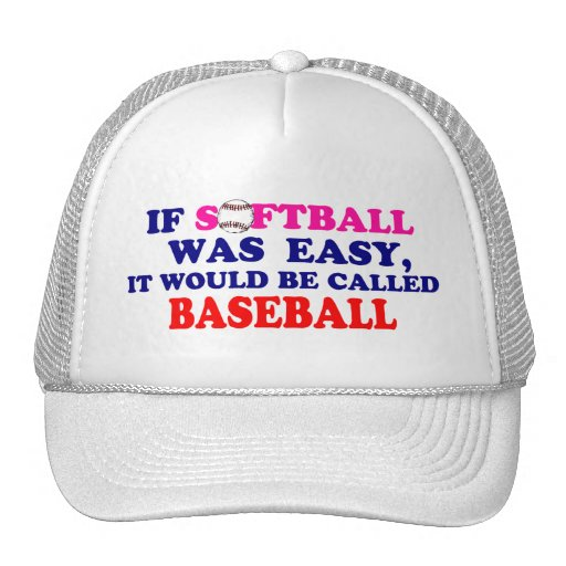 Si el softball era fácil…. gorra