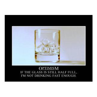 Si el vidrio es lleno yo necesite beber más rápida tarjeta postal