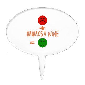 si el vino del Mimosa conmigo, yo es feliz Figuras De Tarta